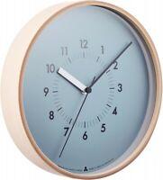 Lemnos SOSO Wall Clock New from Japan Blue AWA13-06 BL 4515030074670