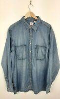 Mens Levis Vintage Blue Long Sleeve Denim Shirt Size XL