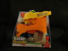 Fisher price little people off road atv adventure orange yellow car green rock