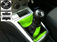 NERO VERDE adattabile a OPEL Vauxhall Astra H Mk5 Mkv STICK GEAR Ghetta in pelle