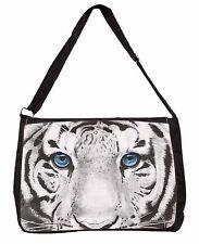 Siberian White Tiger Large Black Laptop Shoulder Bag Christmas Gift Ide, AT-11SB