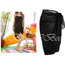 Summer Sexy Beach Cover Up Chiffon Wrap Dress Sarong Sunblock Bikini Scarf #B2