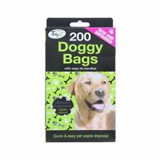 200 Doggy Bags Scented Dog Poo Waste Tie Handles Pooper Scooper
