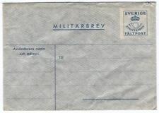 Cover H47 Sweden 1940th mint Militarbrev Military Envelope