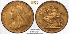 1894 S Gold Sovereign MS62 PCGS Australia Sydney