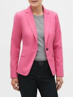 NWT Banana Republic Factory sz 10 Hot Pink Washable Cutaway Blazer Jacket