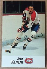 1988-89 JEAN BELIVEAU ESSO MINI STICKER CARD MONTREAL CANADIENS