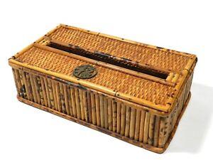 Rectangular Tissue Box Cover Woven Rattan Bamboo