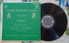 Casals Festival at Prades LP Schubert Pablo Casals Isaac Stern VG+/M-