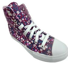 New Big Girls Converse High Top Floral Shoes Size: 3 Junior