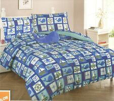 Blue New 6 Pieces Twin Size Kids Boys Blue Bed In A Bag Comforter Set, Sailor