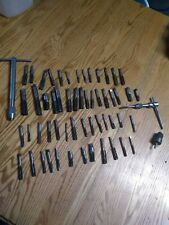 Large Tap & Die Lot Machinist Tools HSS Drill Bits Mills Vermont  CB&FGreenfield