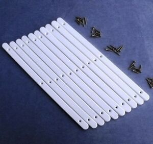 5 Pairs of White Plastic Drawer Runners & Screws for Furniture