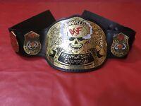 WWE STONE COLD SMOKING SKULL HEAVYWEIGHT CHAMPIONSHIP BELT IN 4MM BRASS PLATED!