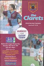 1996/97 BURNLEY V LUTON TOWN 29-03-1997 Division 2