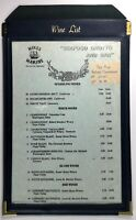 1989 Vintage Original WINE LIST Menu MIKE'S MARINE Restaurant San Pedro CA