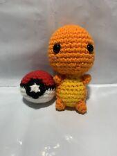 Handmade Crochet Amigurumi Pokémon Charmander W/ Pokéball Plush