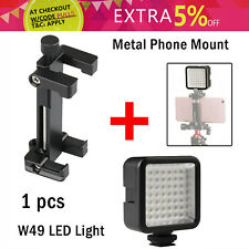 Phone Mount Stand Holder + W49  LED Video Light For iPhone X 8P Samsung Huawei