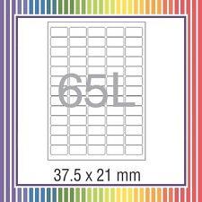 NovaJet Multipurpose Label 65 - 21 x 37.5 WR 100 sheets A4 size Sticker Paper