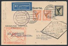 DOX FLIGHT CARD JAN 30,1931 EUROPE TO SOUTH AMERICA BR2196