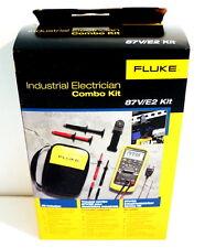 FLUKE 87-V E2 87V/E2 INDUSTRIAL ELECTRICIAN COMBO KIT DIGITAL MULTIMETER NEW