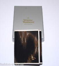 VIVIENNE WESTWOOD marron leopard orb wallet purse case