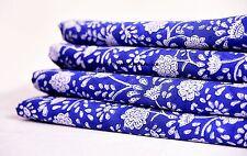 Indian Hand Block Print Fabric 10 Yard Sewing Cambric Voile Cotton Sanganeri