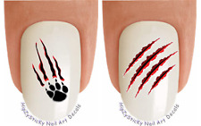 Nail Art #2161 ANIMAL Claw Marks Paw Waterslide Nail Decals Transfers Stickers
