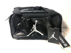"Rare🔥 New Air Jordan Black Insulated Soft Mini Duffel Bag Tote 10""x5.5"""