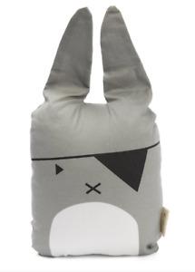 NEW FABELAB Pirate Bunny Cushion Grey baby toddler nursery Scandinavian Design