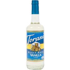 Torani 750 mL Sugar Free Vanilla Flavoring Syrup  COFFEE