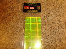"Mad River 2.5 x 6"" 4 Pack FLOURESCENT YELLOW DISCO HOLOGRAPHIC Fishing Lure Tape"