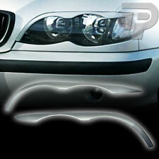 PAINTED BMW E46 4D HEADLIGHT EYEBROWS EYELIDS LCI FACELIFT 02-05 NEW