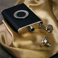 With Leather With Collapsible SHOT Glass Hip Flask Wine Pot Flagon Wine Bottle
