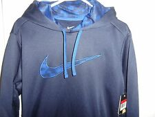 Nike, navy blue Therma - fit hoodie, size L in men NWT