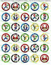 "30 Precut 1"" Mario Brothers Bottle cap Images Set 1"
