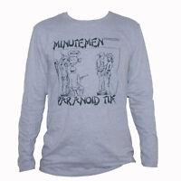 MINUTEMEN T SHIRT Grey Long Sleeve Punk Rock Black Flag Fugazi Graphic Band Tee