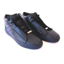 J-1846248 New Brioni Navy High Top Sneakers Shoes Size US 8