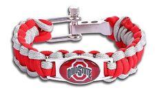 Ohio State Buckeyes College University Unisex Paracord Wristband Jewelry