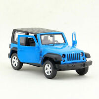 1:42 Jeep Wrangler Off-road SUV Model Car Diecast Pull Back Blue Toy for Kids