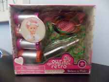 "Our Generation Retro Believe in Pink Hair Rollers Tote Coke 18"" Doll Set Nib"