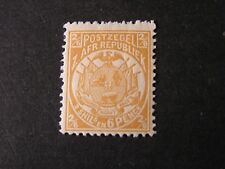 TRANSVAAL, SCOTT # 132, 2sh.6p VALUE YELLOW 1885-93 COAT OF ARMS  ISSUE MVLH