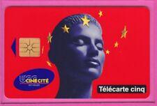 TELECARTE 5 UNITES GN 156 UGC CINECITE CITE VIDE