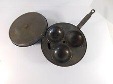 Vintage Antique Tin 3 Egg Poacher