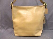 Auth COACH Legacy Leather Duffel Shoulder 19889 LightBrown Leather Shoulder Bag