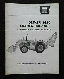 1960's OLIVER 1650 LOADER BACKHOE TRACTOR COMPARISON JD IH MF FORD DEALER MANUAL