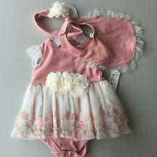 Nicole Miller Pink Butterfly Bodyshirt/Tutu, Bow & Bib 3-6 Months