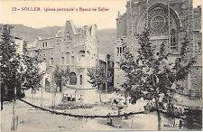 SPAIN - Soller - Iglesia Parroquial y Banco de Soller