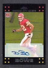 Dwayne Bowe 2007 Topps Chrome Rookie Autograph Card #203 KC Chiefs