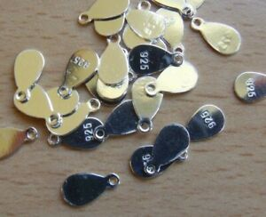 925 STERLING SILVER STAMPED TAGS BRITISH MADE QUALITY SOLID SILVER S1-1
